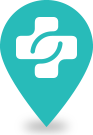 Doctor pin location icon for New York